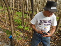 Ridge Ranger Roger Bergere uses a GPS to mark a location