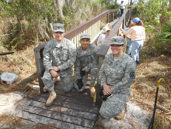 Ridge Rangers and JROTC Cadets rebuild bridge