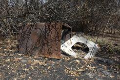 Metal Debris at Highlands Hammock State Park
