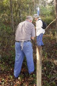 Ridge Rangers doing fencing