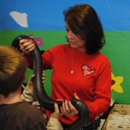 TERN teacher with indigo snake