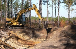Pond construction at Fall Line Sandhills