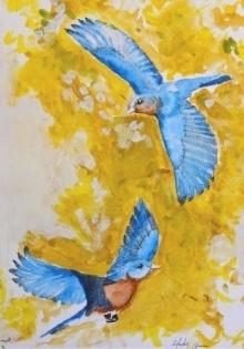 Bluebird painting.