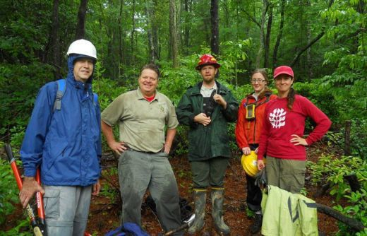 GPCA work day at a mountain bog