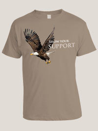 Eagle license plate T-shirt