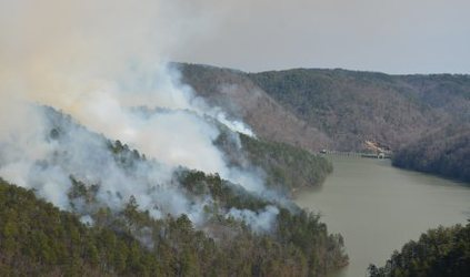 Prescribed fire at Tallulah Gorge