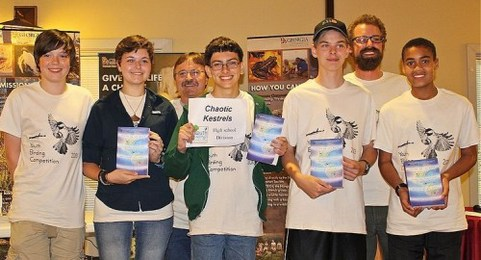 Chaotic Kestrels team in 2013 Youth Birding Competition