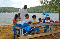 Sweetwater Creek State Park Picnic Family