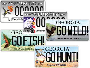 Wildlife license plates