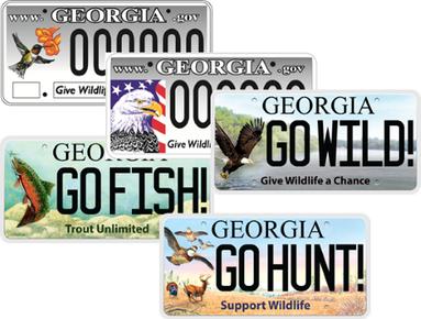 Wildlife license plates