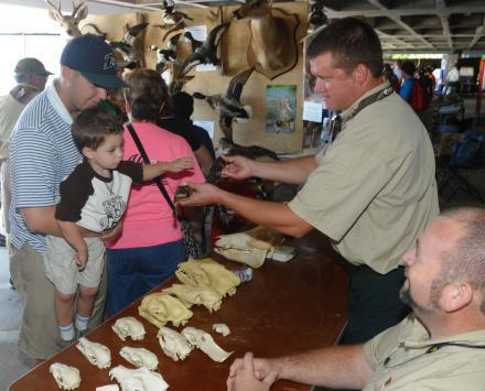 Game Management Section booth at CoastFest (Nancy Butler/CRD)