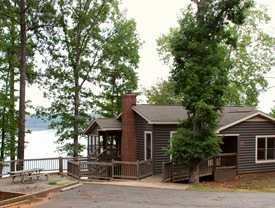 arrowhead pointe cabin on lake