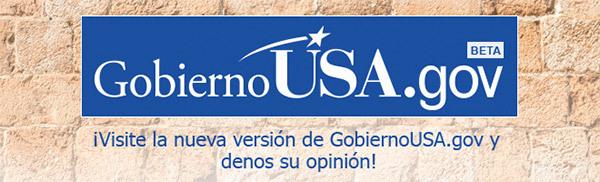 Gobierno USA.gov banner image