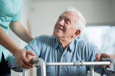 Man in nursing facility