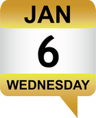 Jan 6 date icon