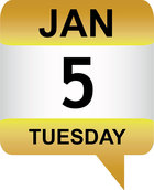 Jan 5 date icon
