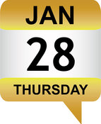 Jan 28 date icon