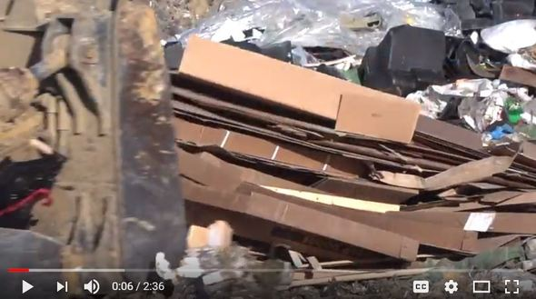 An image promoting a video that explains the new cardboard rule at the Iowa City Landfill.