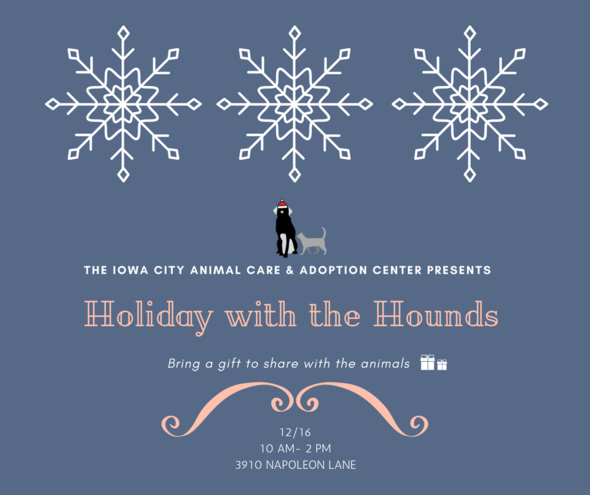 A graphic promoting Holiday with the Hounds.