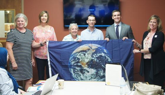 Hart Earth Flag