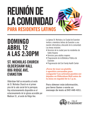 Latino Community Meeting
