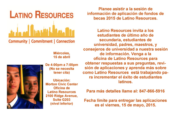 Latino Resources Scholarship flyer
