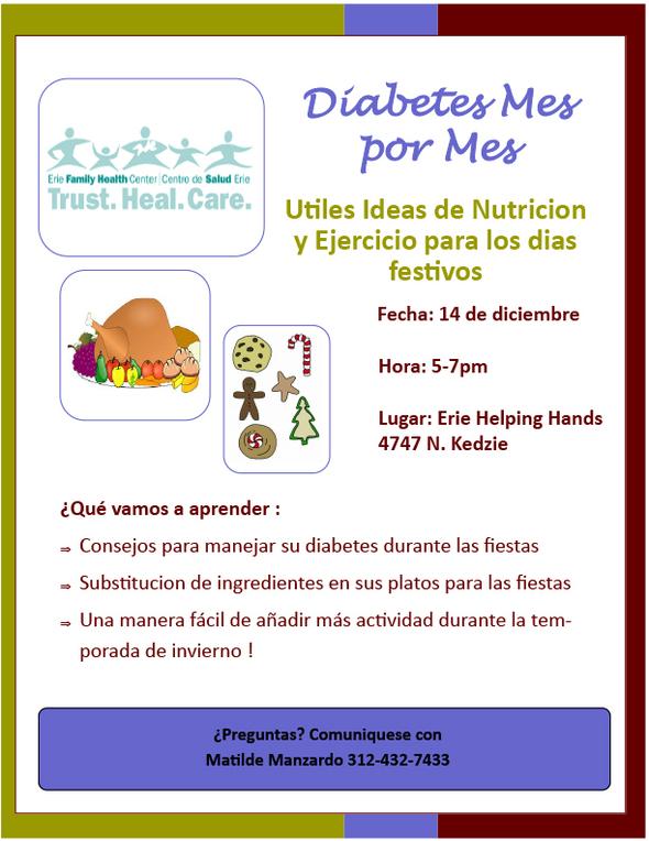 Diabetes Mes por Mes flyer
