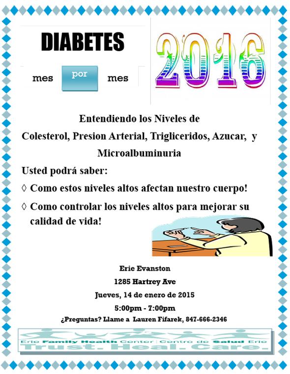 Diabetes mes por mes January 2016 flyer