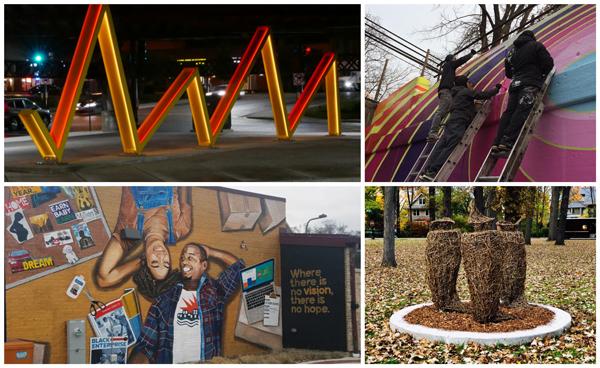2018 public art collage