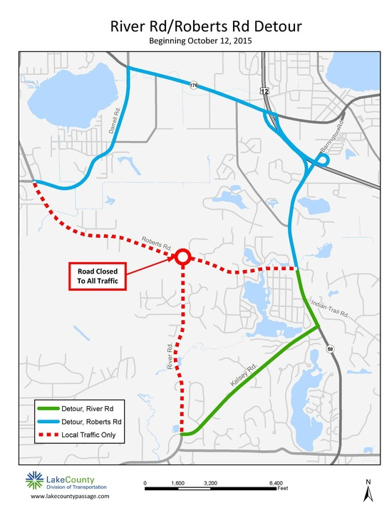 Roberts Detour Map Oct 15