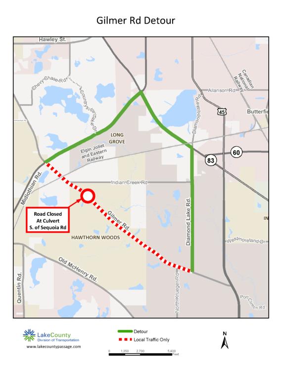 Gilmer Road closure May 2018