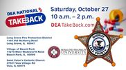 Drug take back day 2018