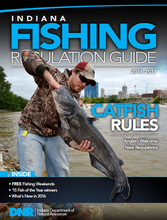 New indiana fishing guide turkey hunts and endangered for Fishing license indiana