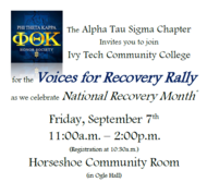 voices for recovery rally