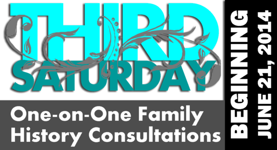 Third Saturday One-on-One Family History Consultations