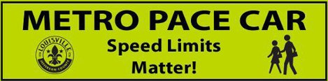 Pace Car Sticker