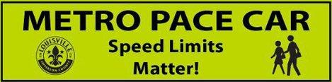 Pace Car Sticker