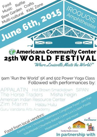 Here s the lineup for the free americana world festival on june6th at