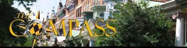 Compass Logo with Charles Village Rowhomes