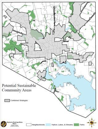 Map of Proposed Sustainable Communities Area