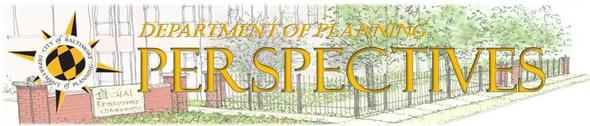 Perspectives Logo with Rendering of Bldg in Background
