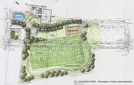 Drawing of Future Ripken Field and Jackson Rec Center