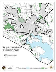 Map of Proposed Sustainable Community Area
