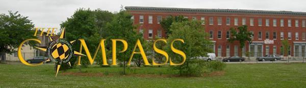 Rain Garden Image with Compass Logo