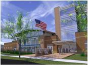 Rendering of new Waverly Elementary School