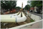 Image of Sewer Pipe installation in progress