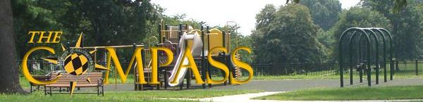 Image of playground with Compass Logo