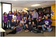 Image of Planning Department Staff decked out in Purple