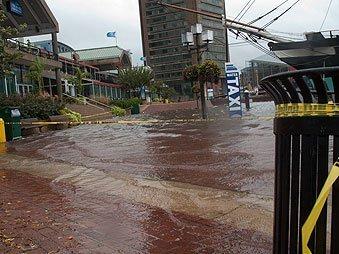 Image of Inner Harbor Flooding 2010