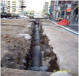 Image of Pipeline being installed under the street